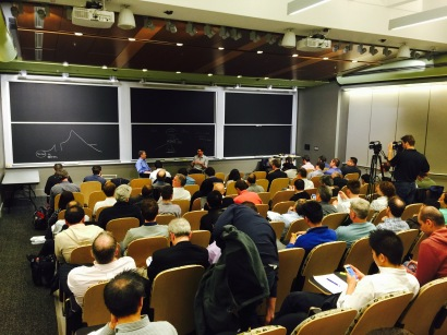 Michael Skok and Alex Osterwalder play to a packed crowd at MIT
