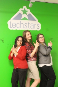 Hackstar/Associates Carla, Alina and Amanda sign in a la Charlie's Angels