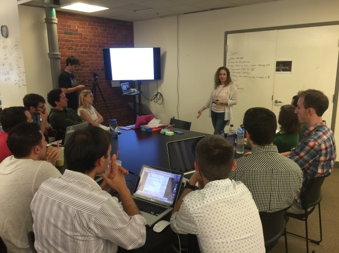 @austinfish finishing up Part 2 of her workshop on hiring.